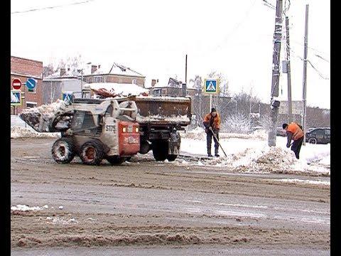 Дорожники борются со снегопадом