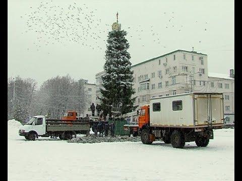 Установка главной городской елки