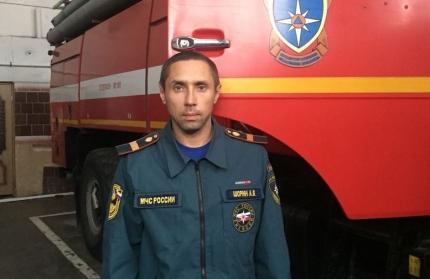 Новомосковский пожарный стал лучшим в Тульской области