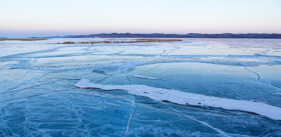 Толщина льда на водоемах