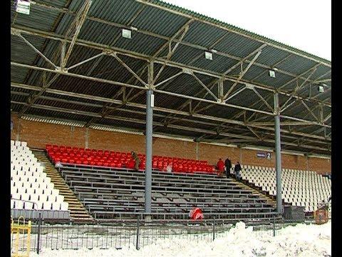 Замена трибун на стадионе «Химик»