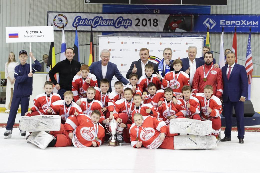 В Новомосковске завершился международный детский турнир по хоккею