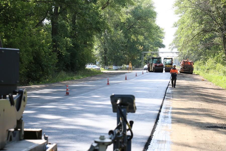 Ремонт участка дороги Комсомольского шоссе находится на стадии завершения