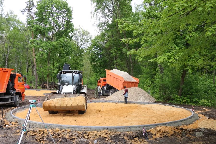 В Городском парке началось строительство двух новых объектов