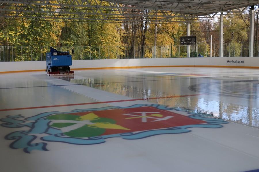 В Новомосковске стартовал сезон массовых катаний на льду