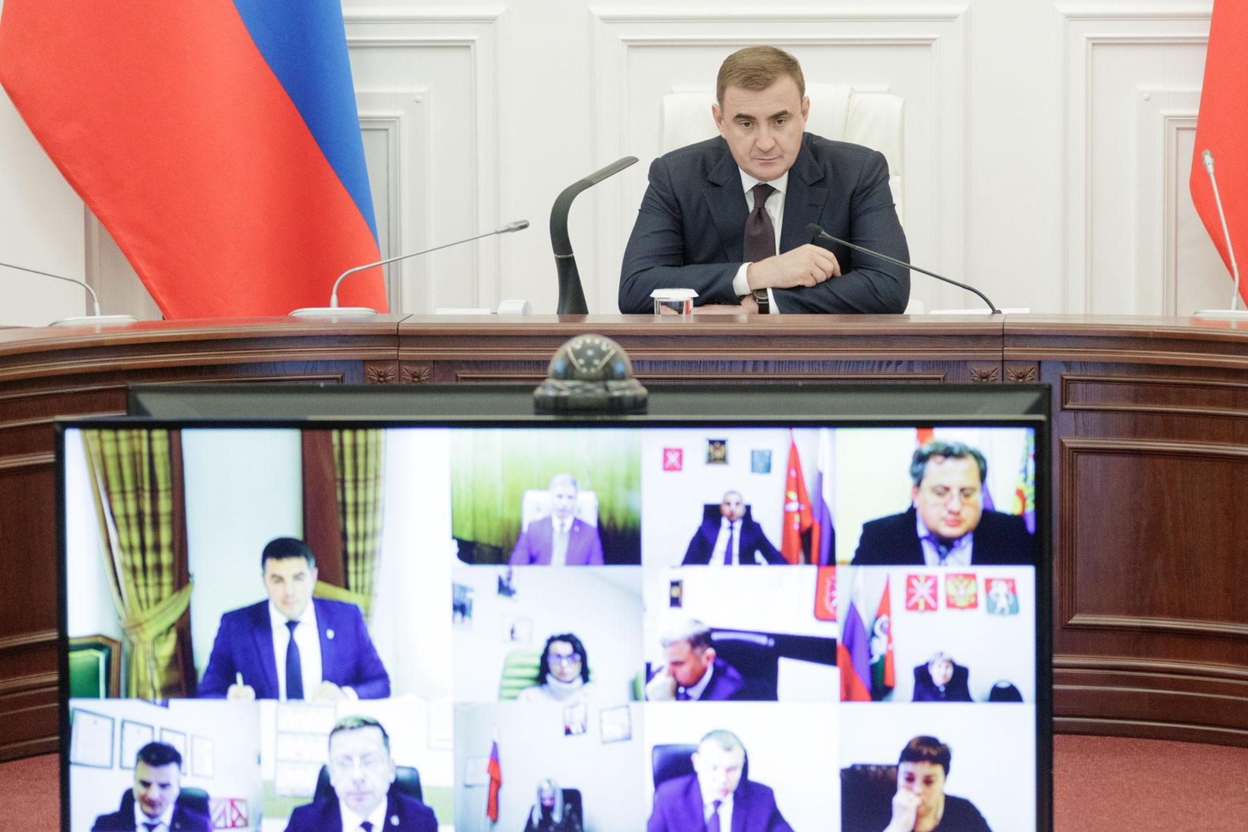 Алексей Дюмин провел заседание регионального штаба по коронавирусу
