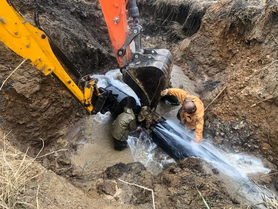 Вчера в Новомосковске ликвидировали аварию на водоводе
